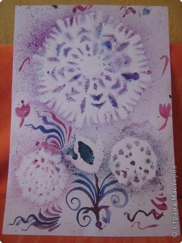 Живопись бумажная: Рисовала моя доченька Мариночка в 7 лет фото 3