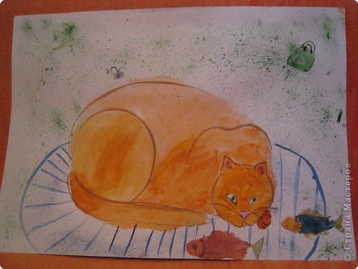 Живопись бумажная: Рисовала моя доченька Мариночка в 7 лет фото 5
