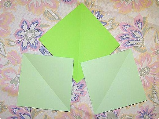 Оригами: Кленовый листок с букашками МК фото 2