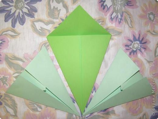 Оригами: Кленовый листок с букашками МК фото 4