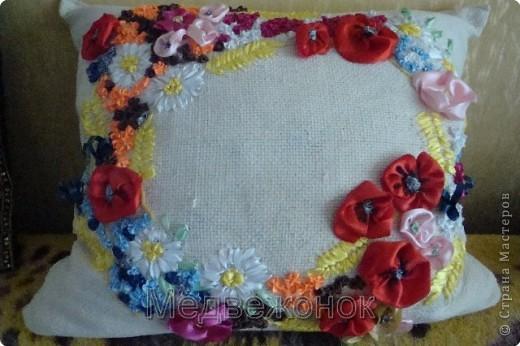 Цветочная подушка для мамы
