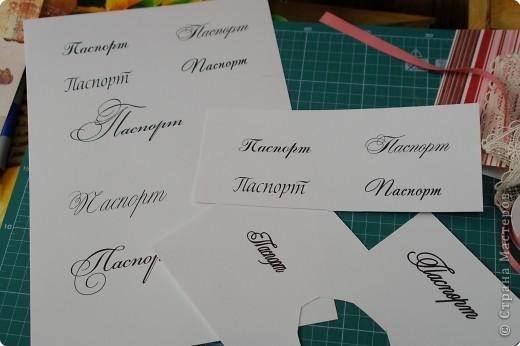 Декор предметов Мастер-класс Аппликация МК по изготовлению обложки на паспорт Бумага фото 7