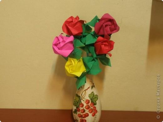 Оригами Роза Кавасаки Декупаж