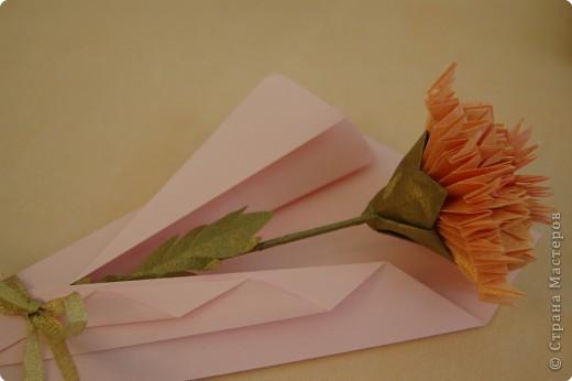 Оригами Цветок гвоздики
