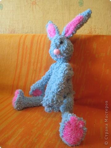 Вязание крючком: Зайка Незабудка фото 3