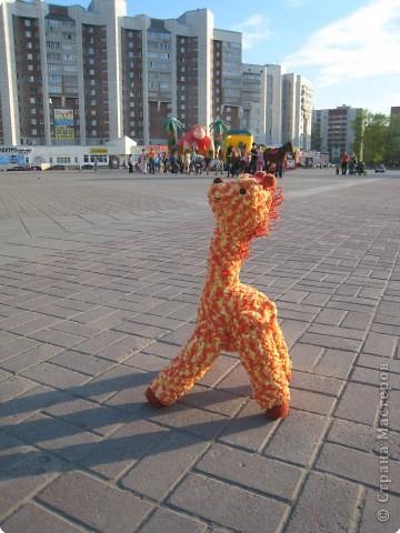 Вязание крючком: Жирафик Веснушка фото 3