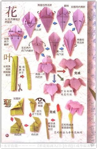 Оригами Ирисы Салфетки