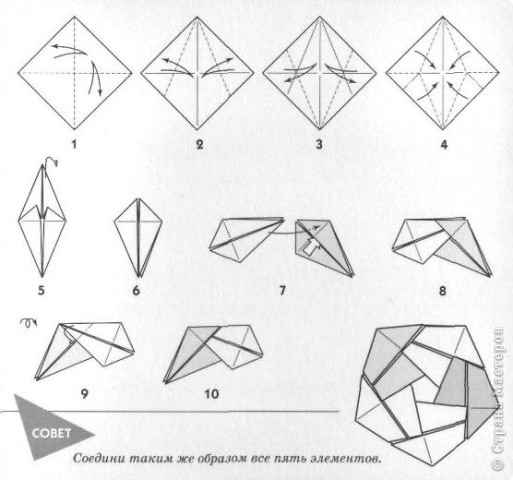 Схемы сборки Салфетки фото