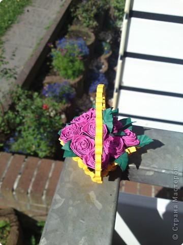 Квиллинг: Корзиночка с розами фото 2