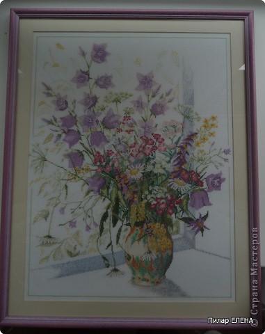 Букет полевых цветов Нитки
