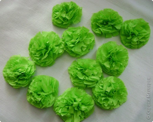 Как сделать траву из гофрированной бумаги