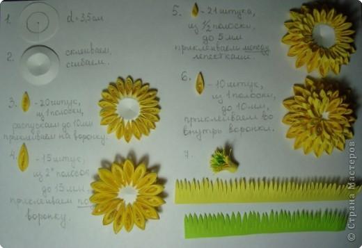 """Долго я думала как собрать цветы в форме шара.Думала я думала и наконец придумала! Но об этом чуть ниже.Решила я опробовать своё """" изобретение"""" на цветке золотой шар, научное название РУДБЕКИЯ. фото 8"""