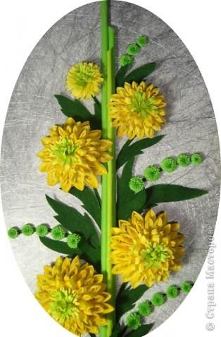 """Долго я думала как собрать цветы в форме шара.Думала я думала и наконец придумала! Но об этом чуть ниже.Решила я опробовать своё """" изобретение"""" на цветке золотой шар, научное название РУДБЕКИЯ. фото 3"""