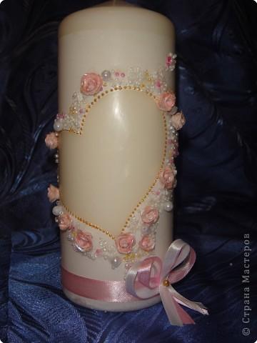 Лепка: Свадебная свеча фото 1
