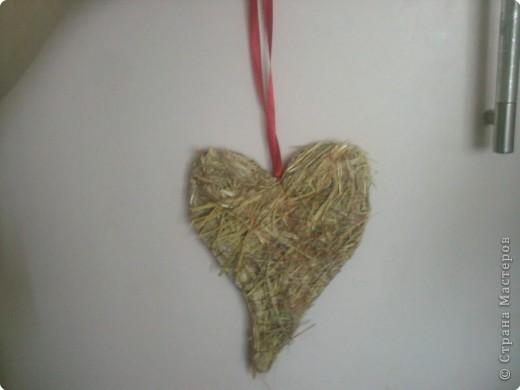 Вот такое сердце мы сделали из ... сена.