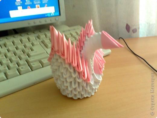 Поделка изделие Оригами Лебедь