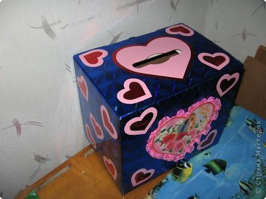 Аппликация: Почтовый ящик для влюблённых. фото 2