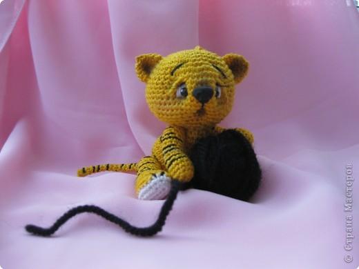 Вязание крючком: Тигренок