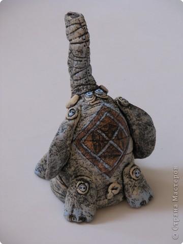 Декупаж, Лепка, Роспись: слонёнок и рыбка :):)