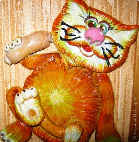 Увидела котов Марины Архиповой и не смогла пройти мимо. Хоть с соленым тестом я и не очень дружу, но ее кошки сразили меня наповал и я пошла месить тесто. фото 1
