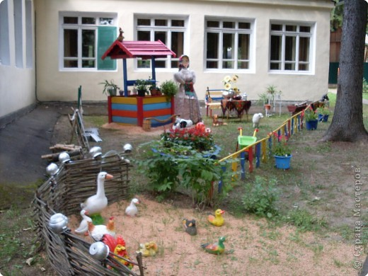 Двор в деревне своими руками фото