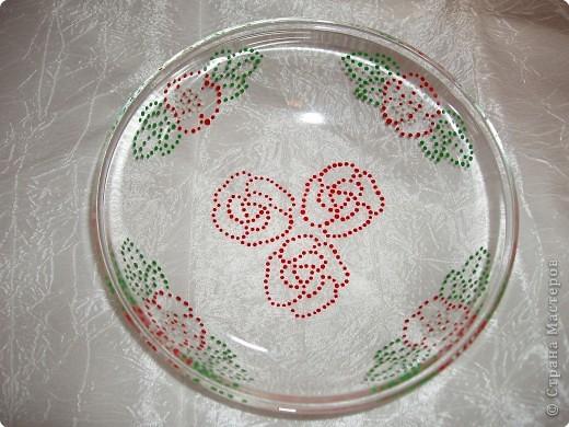 Роспись рисунки на тарелках краска