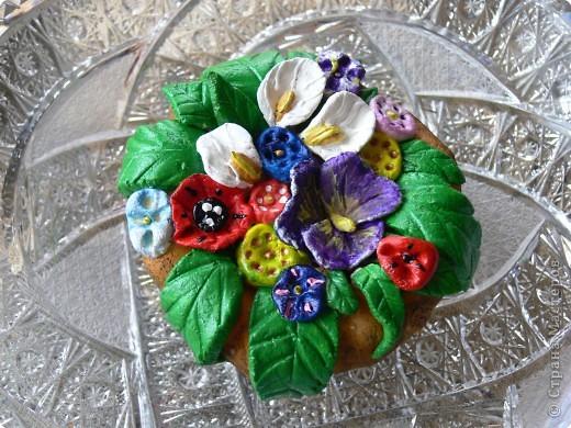 Лепка: Цветы в горшочке. фото 3