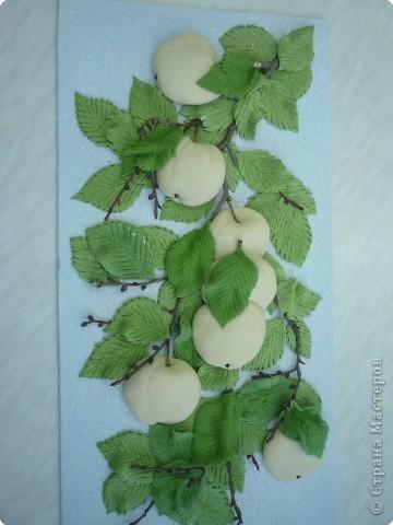 Яблоки аналогично рябине выполняются, но фото немного оказалось. 1. Эскиз. 2. Рамка и основа. 3. Подбор материала. фото 6