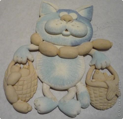 Мастер-класс Лепка Кот с авоськами Тесто соленое фото 15
