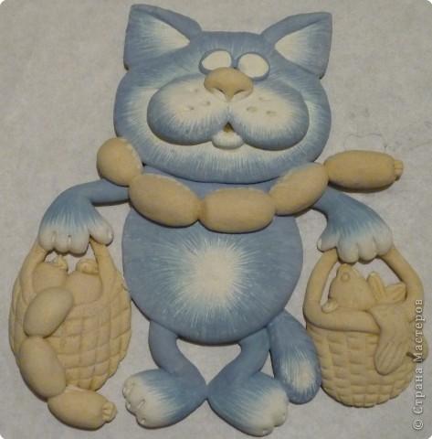 Мастер-класс Лепка Кот с авоськами Тесто соленое фото 16