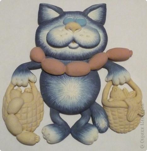 Мастер-класс Лепка Кот с авоськами Тесто соленое фото 17