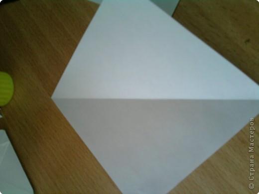 Квадрат сгибаем по полам.  фото 1