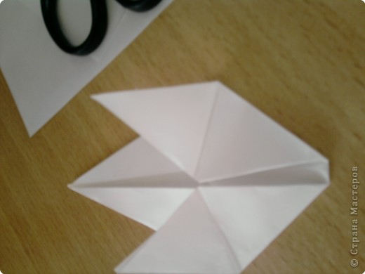 Квадрат сгибаем по полам.  фото 7