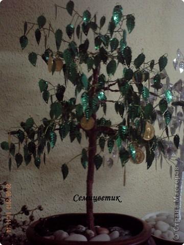 Деревья из бисера и паеток.