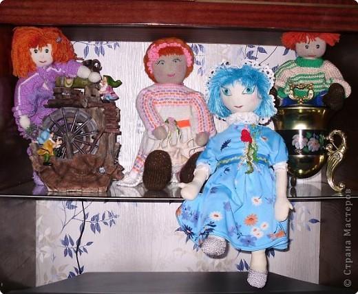 Игрушка мягкая: Незабудка - так решила назвать свою первую куклу из ткани.