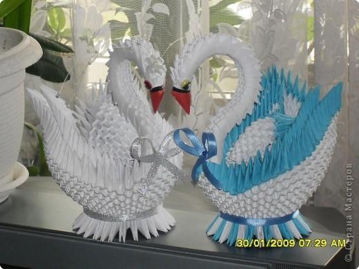 Оригами модульное: Лебедушки