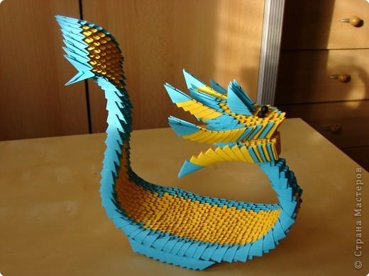 лодка-дракон Бумага фото 2