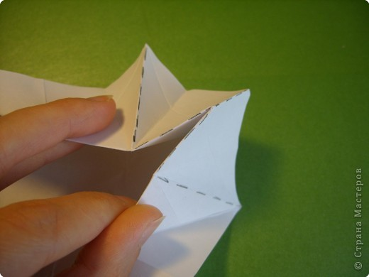 Мастер-класс Оригами Орхидея МК Бумага фото 11