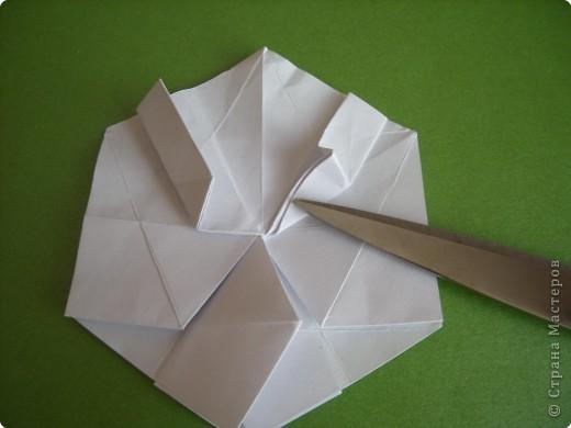 Мастер-класс Оригами Орхидея МК Бумага фото 15