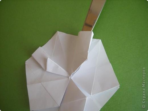 Мастер-класс Оригами Орхидея МК Бумага фото 17