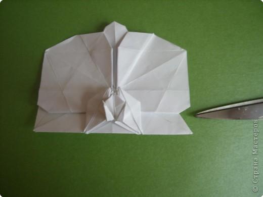 Мастер-класс Оригами Орхидея МК Бумага фото 74