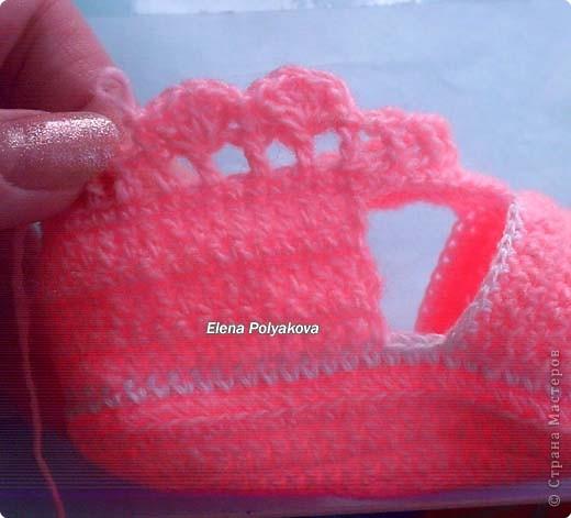 Гардероб Мастер-класс День рождения Вязание крючком Пинетки-туфельки с закрытым носочком МК Пряжа фото 19