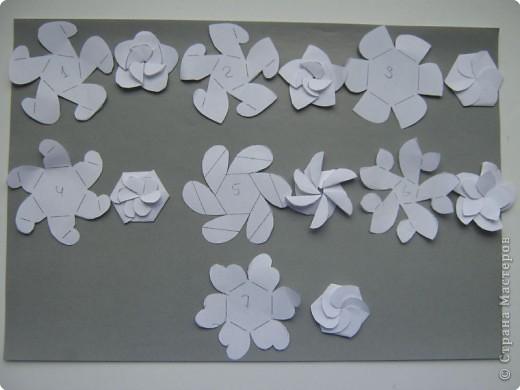 и сложеные цветы Бумага