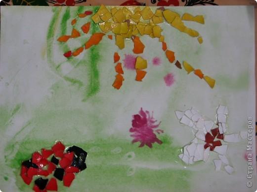 Вот такую мозаичную божью коровку Маша сдела, после насыщенного выходного, фото с которого можно посмотреть здесь (https://stranamasterov.ru/node/87967) фото 1