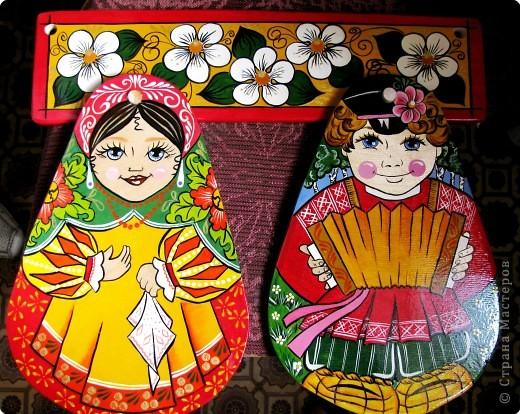 Роспись: Вешалки для дощечек (Матрешек) фото 1