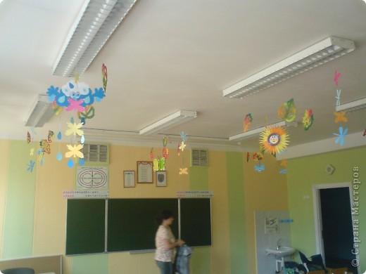 Интерьер Поделка изделие Начало учебного года Аппликация Оформление класса к 1 сентября Бумага фото 9