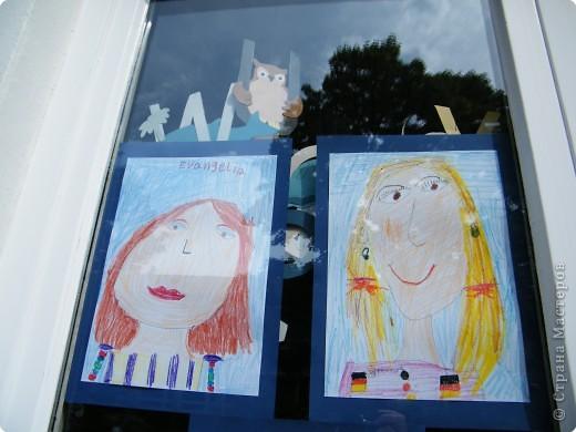 Автопортреты нашего 1 А.   Евангелия и моя дочка Виктория. фото 1