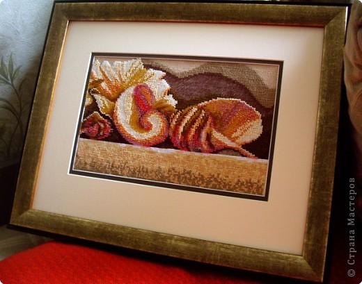Вышиваем бисером ракушки