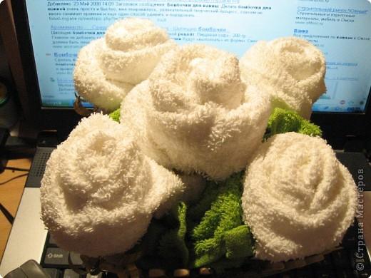 Цветы из полотенец своими руками мастер