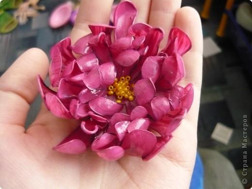 Вот такие цветочки сделала на днях из пластиковых бутылок. фото 1